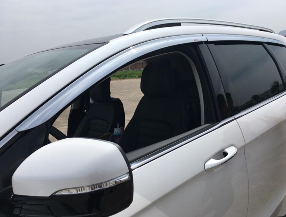 ABS Chrome plastic Window Visor Vent Shades Sun Rain Guard car accessories for Ford Edge 2015 2016 2017 2018 car styling in Chromium Styling from Automobiles Motorcycles