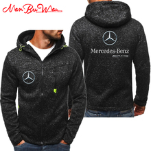 2019 New Mercedes Benz Amg Hoodies Men Fashion Personality Zipper Sweatshirt Male Hoody Tracksuit Hip Hop Autumn Winter Hoodie ((China)