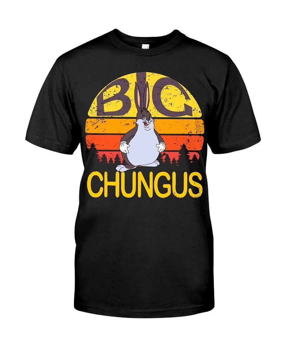 69f4f63c85c9a1 Big Chungus meme vintage Classic T-Shirt Hip Hop Novelty T Shirts Men S  Brand Clothing