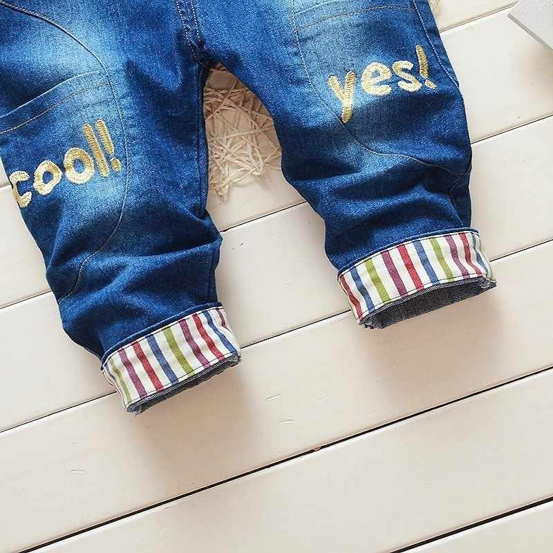 Джинсовые комбинезоны для маленьких мальчиков и девочек осень 2018 г. детские джинсы спортивный Детский костюм штаны малышей Комбинезоны малышек
