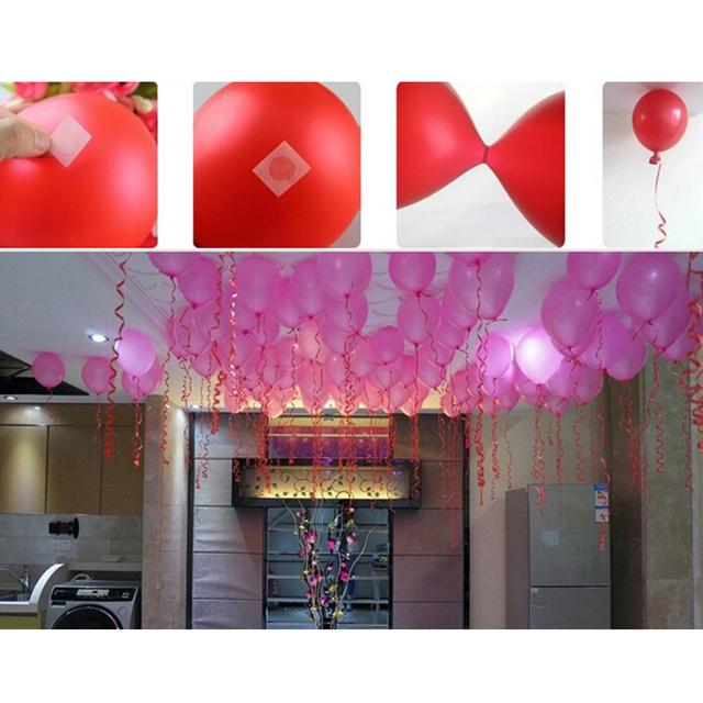 Funny 100Pcs Balloons Glue Point Foil Latex Balloon Fix Gum Air Balls Inflatable Toys Wedding Party Birthday Decorantion