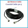10 Metros 50-5 Cable Coaxial para conectar con el exterior/antena de interior con el teléfono celular de refuerzo repetidor N macho