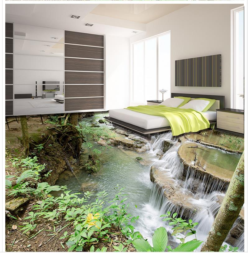 3D wallpaper 3d floor murals PVC Photo wallpaper mural floor 3D outdoor waterfall tiles customized 3d wallpaper 3d pvc floor painting wallpaper sea fish 3d floor tile beauty 3d wall murals room decoration