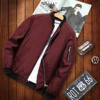 2019 nuova giacca allentato bomber degli uomini giacca casual da uomo hip hop del berretto da baseball della stampa del collare del rivestimento di modo liscio giacca streetwear