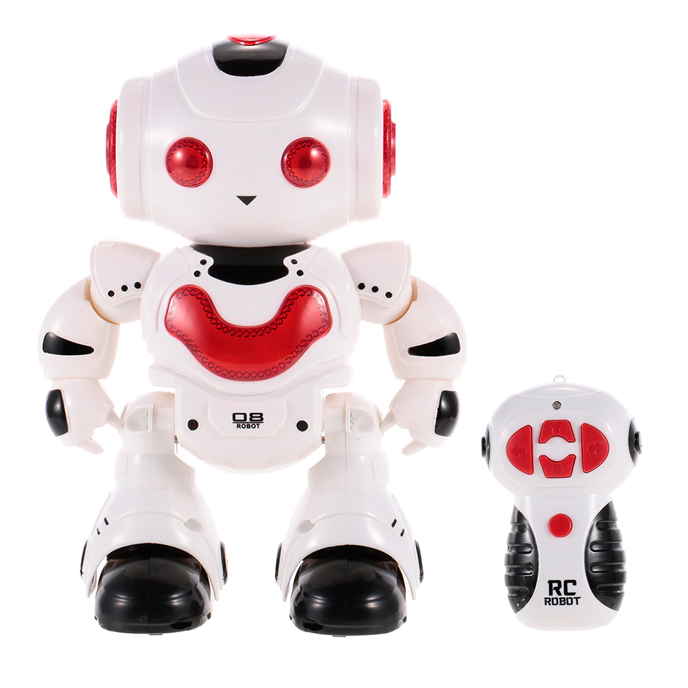 High Quality J605 RC Dancing Robot with Music LED Light Enlightment Educational Kids Toy Children Gift