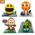 LOZ New Hot Filme Pixels Figura Pac man Building Blocks Brinquedos Pacman Orangotango Polvo Chilopod Assemblage Figura de Ação Brinquedo de Presente