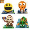 LOZ New Hot Movie Pixels Figure Pac man Building Blocks Toys Pacman Orangutan Octopus Chilopod Assemblage Action Figure Toy Gift