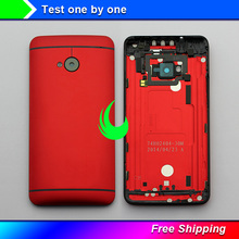 New Original Rear Back Housing For HTC One M7 Back Cover Battery Door with Camera Lens 801e 801n 801s For M7 Battery Housing стоимость