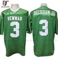 2017 New Cheap Odell Beckham Jr 3 Isidore Newman High School Green American Football Jersey Throwback