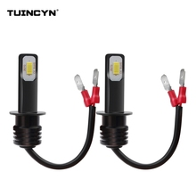 TUINCYN 2pcs Super Bright H1 Led Bulbs Lights for Cars High Power Led Fog Lamps 3570 CSP Car Light Sourse For Fog Driving Lamp