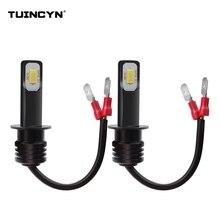 Tuincyn 2 шт. супер яркий H1 светодио дный лампы для автомобилей Высокое Мощность светодио дный Противотуманные огни 3570 CSP автомобиля источник света для Туман дальнего