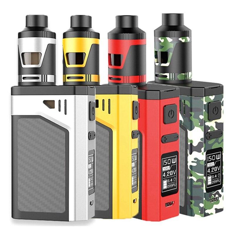 100 W 150 W Vape narguilé fumer Shisha stylo 5.5 ml RDTA boîte électronique démarreur intelligent contrôle E stylo 2600 mah vaporisateur E-Cigarette