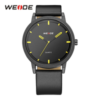 WEIDE Male Clocks Quartz Movement Analog Mens Sport Luxury Hardlex Black Strap Band Buckle Outdoor Military