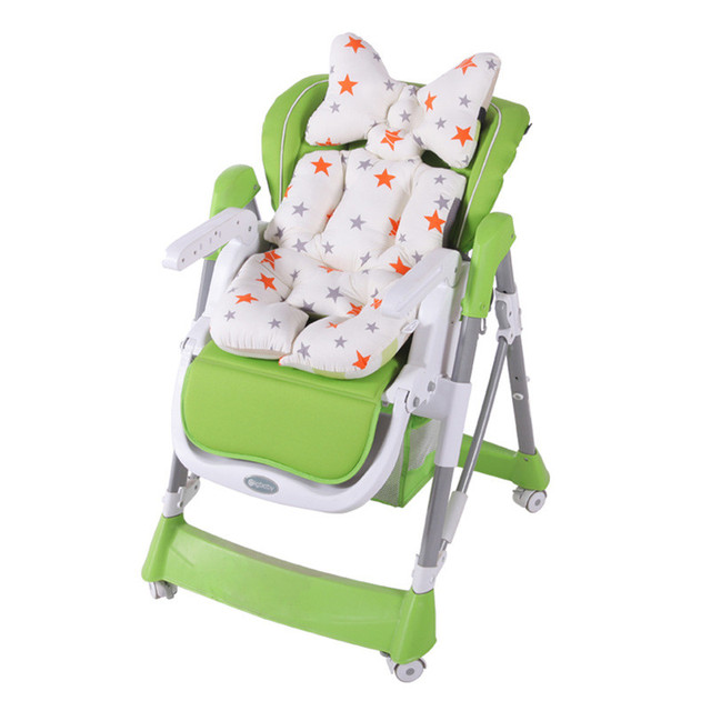 Baby Printed Stroller Pad Seat Trolley Chair Cushion Mattresses Pillow Cover Child Carriage Thicken Warm