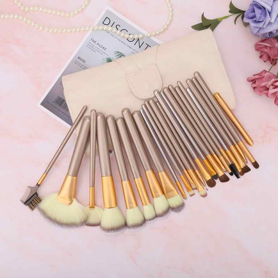 24Pcs/set Wooden Handle Makeup Brushes Set Eyeshadow Foundation Blush Brush with Storage Bag
