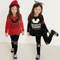 Explosion Models! 2016 Autumn New Children's Clothing Girl Fashion Mickey Set Infant Cotton Two-piece Set Free Shipping