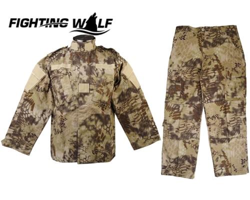 ФОТО Military Combat V2 Uniform Shirt & Pants HLD Camo High Quality Material Lightweight Comfortable Hunting Clothing