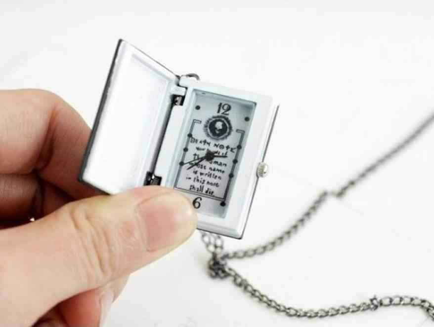 Fashion 2020 Necklace Chain Pocket Watch Women Mens Unique Death Note Bronze Quartz Fob Watches Men Relogio Clock Date #YL5