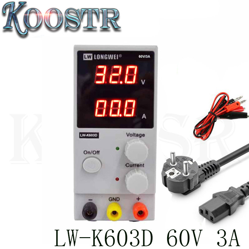 New DC Power Supply LW-K603D 60V 3A Mini LCD Digital Display Adjustable Laboratory Regulated Switching Power Supply 110V  220V