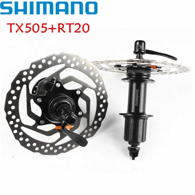 SHIMANO TX505 + RT20 160 ملليمتر محور والدوار 8 9 10 سرعة الدراجة الجبلية MTB مركز قفل 32 هول الخرزة مكبح قرصي دراجة المحور