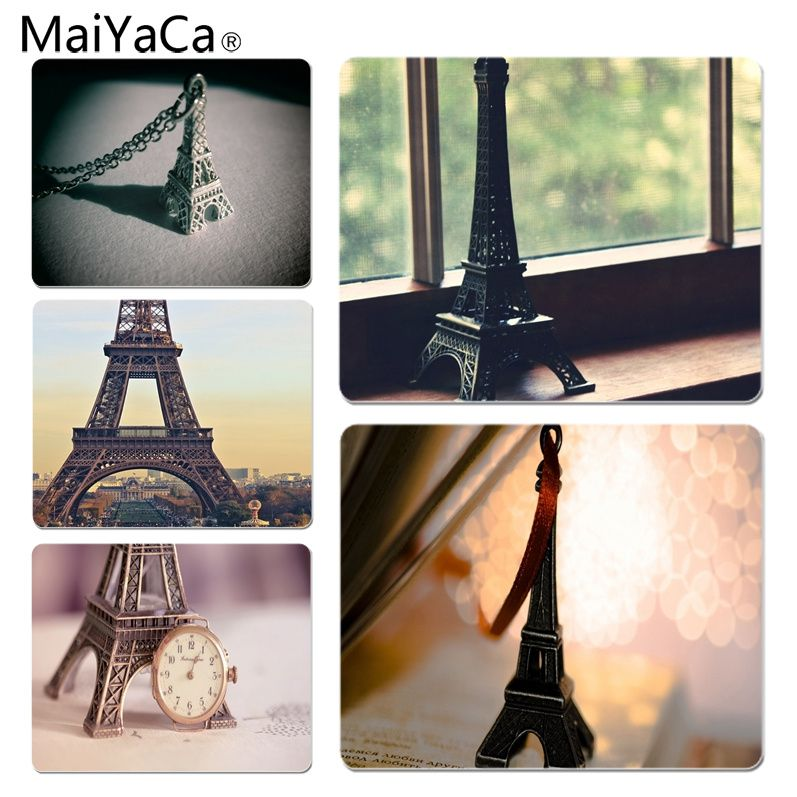 MaiYaCa Boy Gift Pad Miniature Eiffel Tower Customized laptop Gaming mouse pad Size for 18x22cm 25x29cm Rubber Mousemats