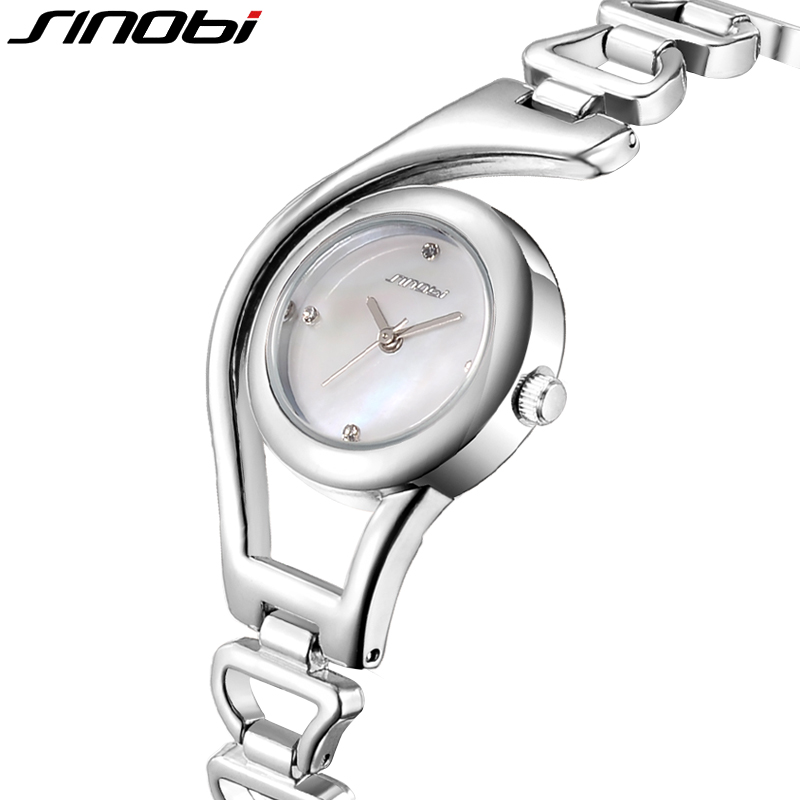 SINOBI Bracelet Watch Women Hardlex Wrist Watch for Women Rose Gold Ladies Watches Elegant Montre Femme
