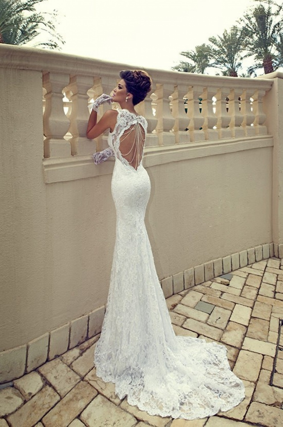 Hot Sale Galia Lahav Vintage Mermaid Sweetheart Backless White Sheer 2014 Lace Wedding Dresses Court Train Bridal Gowns In From Weddings