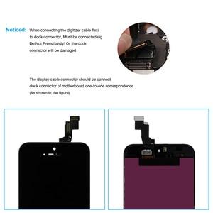 Image 4 - Dla iPhone 5s wyświetlacz LCD z ekranem dotykowym Digitizer zgromadzenie A1453 A1457 A1518 A1528 A1530 A1533 nie martwy piksel czarny biały