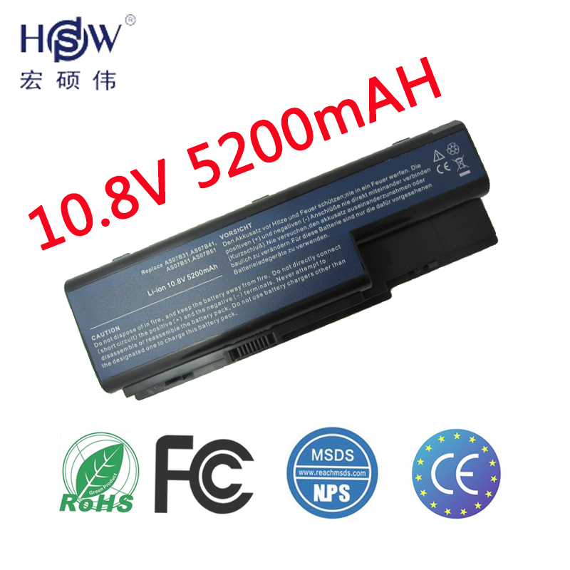 HSW Laptop Battery For Acer Aspire 5520 5720 5920 6920 6920G 7520 7720 7720G 7720Z AS07B31 AS07B41 AS07B42 AS07B72 CONIS72