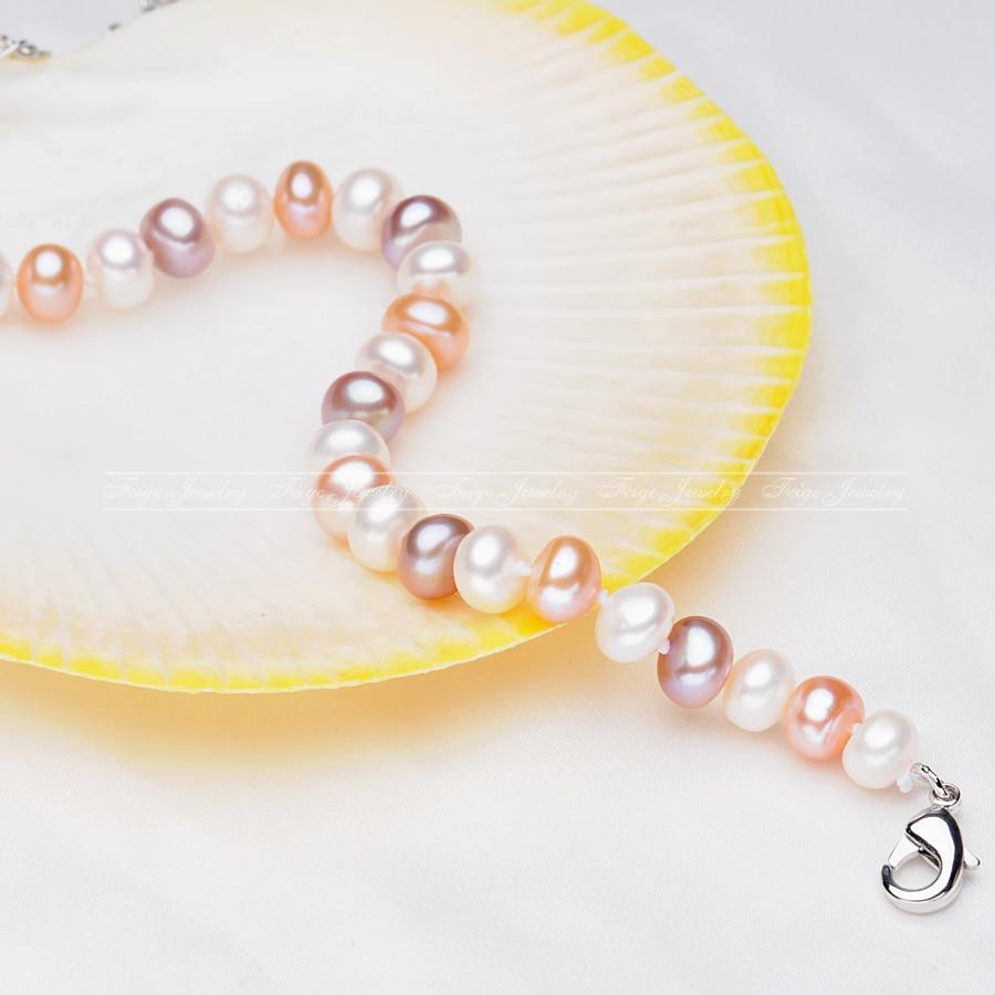 e132e2e411c Popular style 6.5-7.5mm Multicolor Natural Pearl Strand Bracelets for
