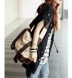 2016 Fashion Canvas Bag Women font b Handbag b font Shoulder Bags Ladies Vintage Designer Women