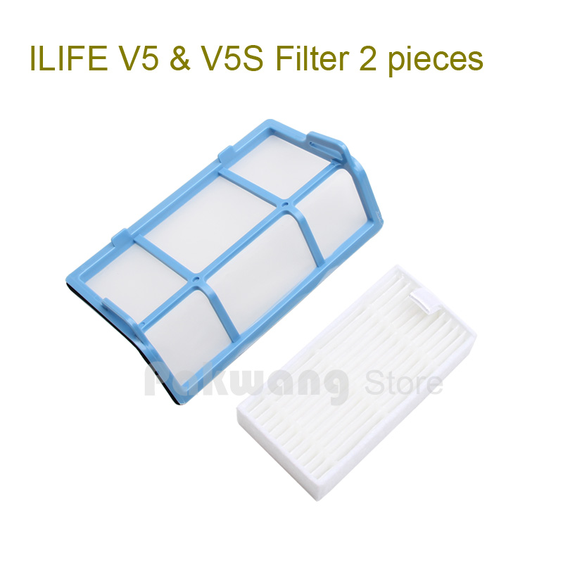Original ILIFE V5 V5S HEPA Filter 1 pc and Primary Filter 1 pc of Robot Vacuum Cleaner  Spare Parts from factory original ilife v7 primary filter 1 pc and efficient hepa filter 1 pc of robot vacuum cleaner parts from factory
