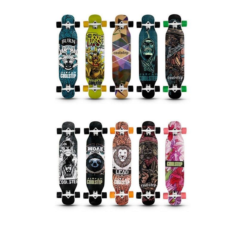 1pc 2019 New 107*23cm Long Board Skateboard 7inch Truck 70*51mm 78A Wheels 42inch Dancing Board Longboard Girl Boy Board