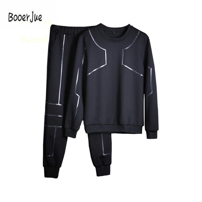 Fashion Tracksuit Men Brand-Clothing Hoodies Sweatshirt Men Chandal Hombre Casual 2PC Set Coat+Pants Moletons Masculino 2018 New