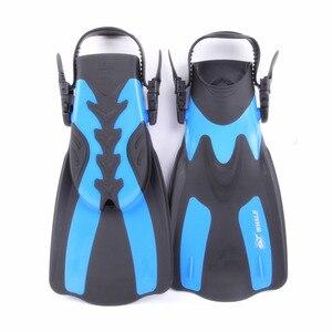 Image 2 - Marka nurkowanie płetwy do pływania regulowane dla dorosłych krótkie buty do nurkowania płetwy do pływania Trek Foot Flipper nurkowanie Flippers z obcasem