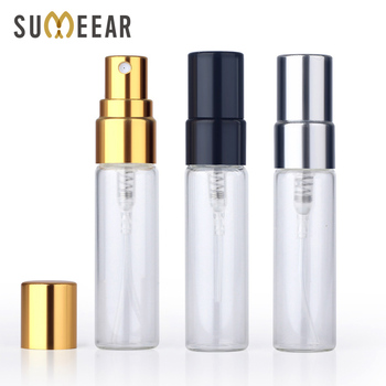 50Pieces/Lot 5ml Perfume Bottle empty glass spray bottle Aluminium Bottles Atomizer Cosmetic Travel Container