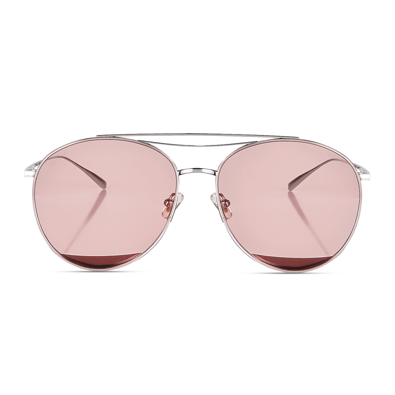 Pure Titanium Sunglasses Women Famous Brand Designer New Fashion Ladies High Quality Oval Mirrored Sun Glasses