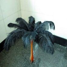 Хит! Бесплатная Доставка оптом 100/партия черные страусиные перья 16 18 дюймов/40 45 см DIY Свадебные украшения интерьера