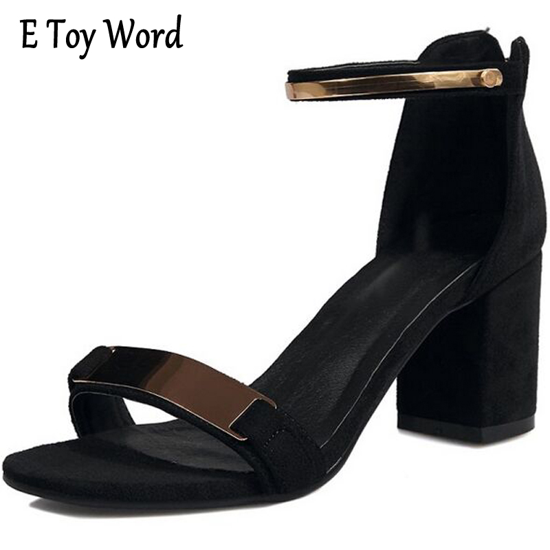 E TOY WORD Sexy Female Sandals Summer Zapatos Mujer Ankle Strap Women Sandals Open toe Heels Ladies Sandals Heels Black usams fluorescent ipx8 waterproof bag case for iphone 6s 6 4 7 with strap black