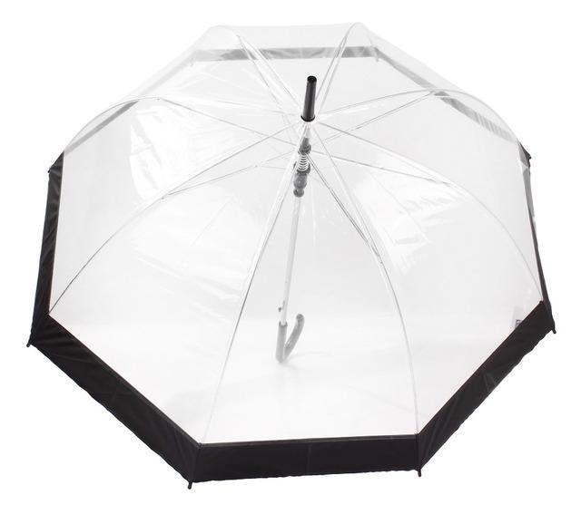 Yesello 1PCS Plastic EVA Transparent Umbrella  Creative Rain Sunny Women Girls Ladies Novelty Items Long Handle Umbrellas
