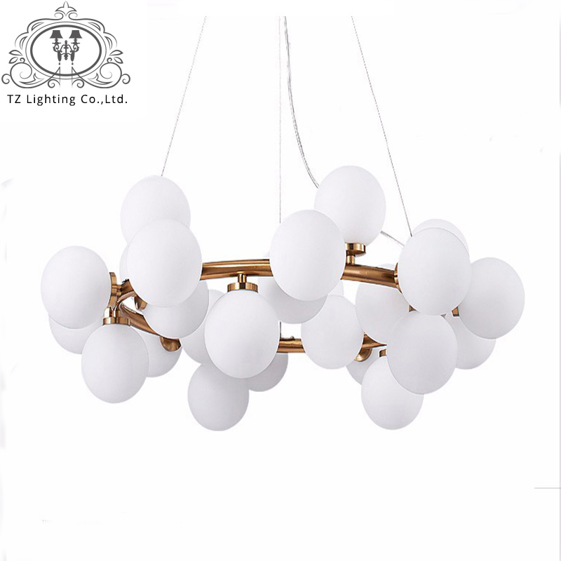 TZ Modern LED Pendant Lights For Living Room Dining Room G4 Gold Black Light Body White Glass Pendant Lamp Fixtures lampe modern guard dining room pendant lights white black golden silver lamp