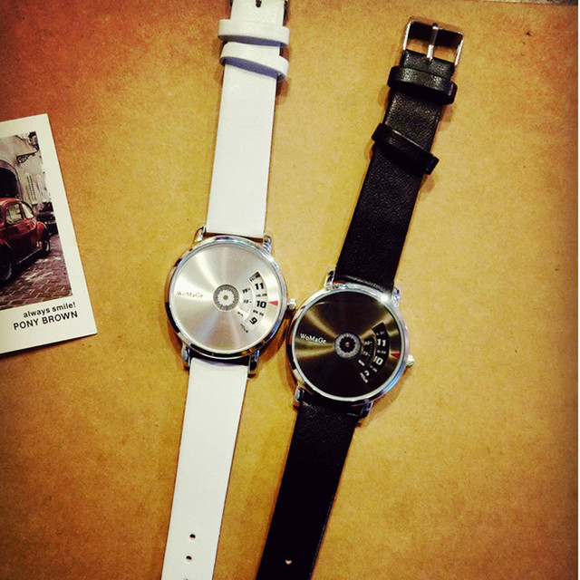 New Students Creative Personality Korean Simple Decorative PU leather Watches Wo