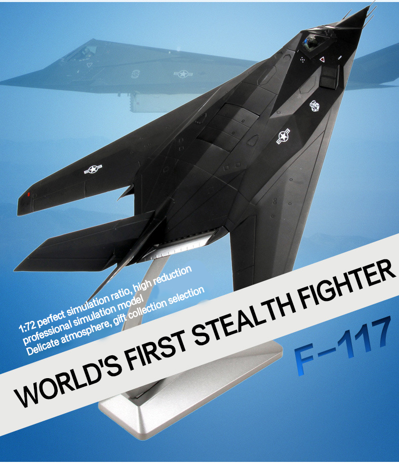 ФОТО f-117a stealth attack aircraft 1:48 diecast metal fighter model military fighter alloy decoration collection