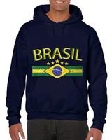 Mens Fashion 2018 Men's Brasil Flag and Country Emblem, Brazil Hoodies Sweatshirt