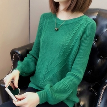 2018 Women Pullover Female Sweater Fashion Autumn Winter Warm Casual Loose Knitted Tops NS3991