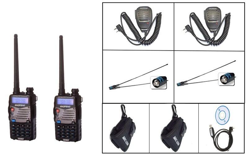 2XBlack BaoFeng UV-5RA PLUS Two Way Radio+ 1Xprograming cable+2XBF MIC+2X771-F antenna +2X 20B case free shipping2XBlack BaoFeng UV-5RA PLUS Two Way Radio+ 1Xprograming cable+2XBF MIC+2X771-F antenna +2X 20B case free shipping