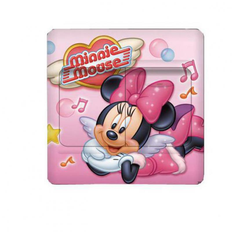 1 pcs Switch Sticker Mickey Minnie Mouse cartoon wall stickers for childrens room decoration film wall art removable pvc comics