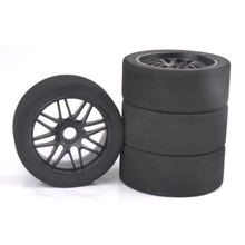 17mm Hex 1/8 RC Foam Tires Wheel Rims 105mm Set for HSP HPI Racing Car 4pcs set rc parts 12mm hex bead loc short course ruber tire rims for hpi hsp rc 1 10 traxxas slash