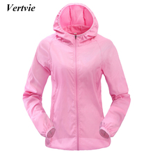 Vertvie Women Men Outdoor Sports Windproof Quick Dry Running Jacket Sunshade Breathable Rain Top Candy Color Thin Section