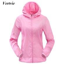купить Vertvie Women Men Outdoor Sports Windproof Quick Dry Running Jacket Sunshade Breathable Rain Jacket Top Candy Color Thin Section дешево